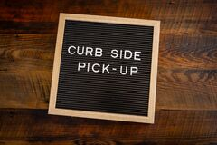 Free Curb Side Pick Up Centered Royalty Free Stock Photos - 177665868