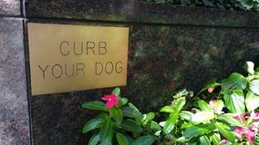 Curb Your Dog Sign Royalty Free Stock Image