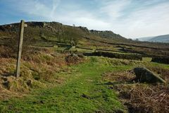 Curbar Edge, Peak District, Derbyshire, Stock Photography