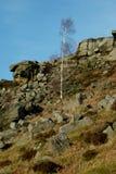 Curbar-Rand, Höchstbezirk, Derbyshire, Stockbild