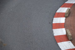 Curbs on formula one track Stock Photography