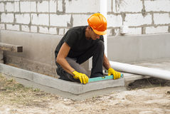 Curbs for paving slabs Stock Photography