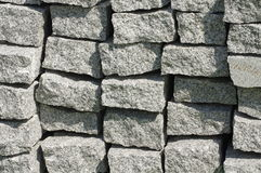 Curbs stone backgrounds Royalty Free Stock Photos