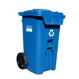 curbside δοχείων ανακύκλωσης στοκ εικόνα με δικαίωμα ελεύθερης χρήσης