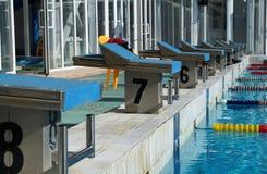 Curbstone dla skoku basen Zdjęcia Royalty Free