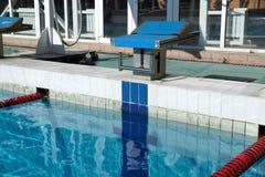 Curbstone dla skoku basen Zdjęcia Stock
