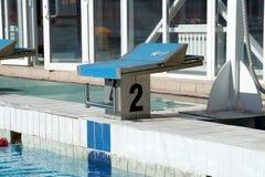 Curbstone dla skoku basen Fotografia Stock