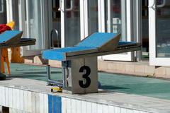 Curbstone dla skoku basen Obrazy Royalty Free