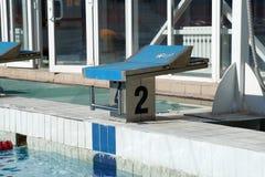 Curbstone dla skoku basen Zdjęcie Royalty Free