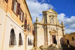 Curch in Citadel fortress on island Gozo Stock Images