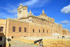 Curch in Citadel fortress on island Gozo Stock Photography