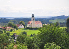 Curch Saint Stephanus in Lalling, Bavaria Stock Photo
