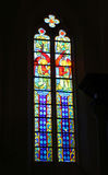 CURCH STAINED GLASS WINDOW. Stained Glass Royalty Free Stock Images