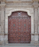 Curch Wooden Front Door Royalty Free Stock Images