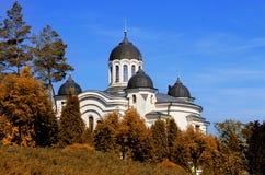 Curchi monastery among autumn trees Royalty Free Stock Photos