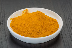Curcuma powder Stock Photo