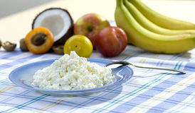 Curd And Fruits Royalty Free Stock Photos