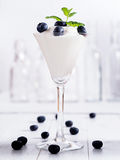 Curd with blueberrys Royalty Free Stock Images