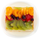 Curd cake with jellied fruits and berries Stock Photography