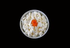 Curd with candied fruit Stock Photography