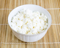 Curd in a ceramic bowl Stock Images