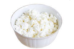 Curd in a ceramic bowl Royalty Free Stock Photography