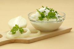 curd cheese in a bowl Stock Photography
