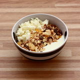 Curd cheese with muesli Stock Photo