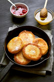 Curd cheese pancakes Stock Image