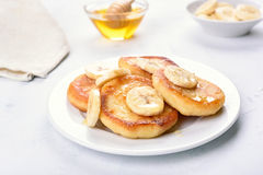 Curd cheese pancakes Royalty Free Stock Image