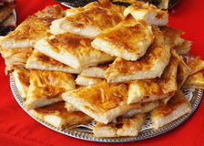 Curd cheese strudel. Strudel stuffed with curd cheese (Austro-Hungarian specialty Stock Photo