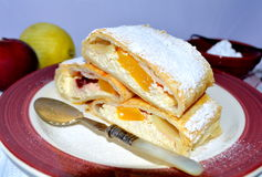 Curd cheese strudel Royalty Free Stock Image