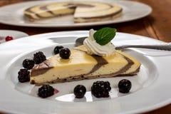 Curd and cocoa dessert Stock Photo