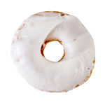 Curd cream donut  on white. Background Royalty Free Stock Image