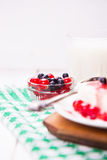 Curd is dessert stock photography