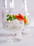 Curd for dipping with vegetables Stock Photo