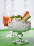 Curd for dipping with vegetables Royalty Free Stock Photo