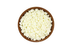 Curd flakes in a wooden bowl o Stock Photo