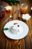 Curd jelly with fruit filling Royalty Free Stock Images