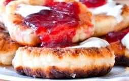 Curd pancake Stock Images