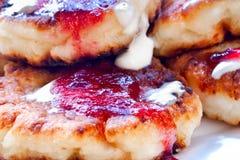 Curd pancake Stock Image