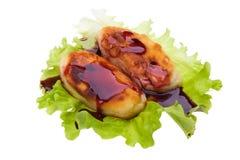 Curd pancake macro Stock Images