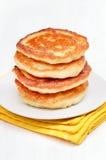 Curd pancakes stack Stock Photos