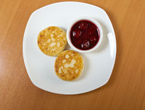 Curd pancakes Stock Photography