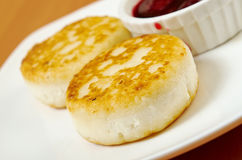 Curd pancakes Royalty Free Stock Images