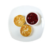 Curd pancakes Royalty Free Stock Photography