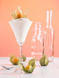 Curd with Physalis Royalty Free Stock Images