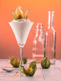 Curd with Physalis Stock Photo