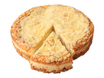 Curd pie with cut piece Stock Photo