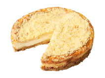 Curd pie without a piece Stock Photos